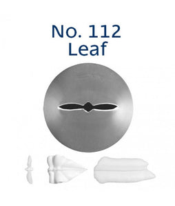 Piping Tip Stainless Steel Leaf Medium No. 112