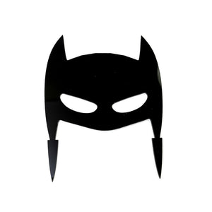 Cake Topper - Mask Hero Black Acrylic