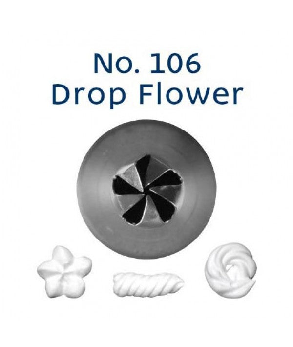 Piping Tip Stainless Steel Drop Flower Standard No. 106