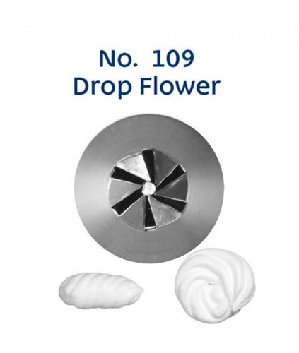 Piping Tip Stainless Steel Drop Flower Medium No. 109