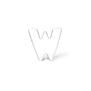 "Cookie Cutter - Letter ""W"" 7cm"