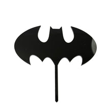 Load image into Gallery viewer, Cake Topper - Batman Logo Black Acrylic