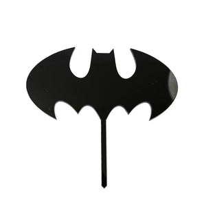 Cake Topper - Batman Logo Black Acrylic