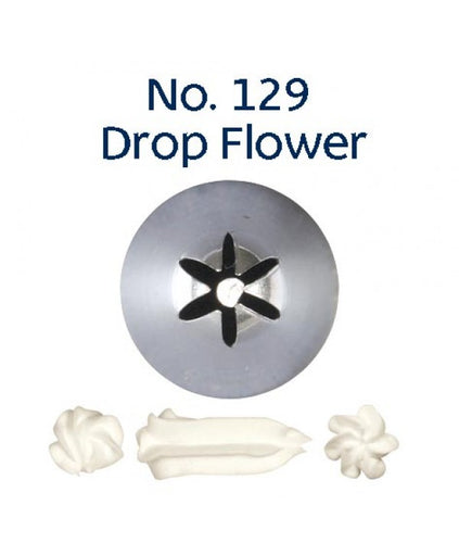 Piping Tip Stainless Steel Drop Flower Standard No. 129