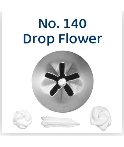 Piping Tip Stainless Steel Drop Flower Standard No. 140