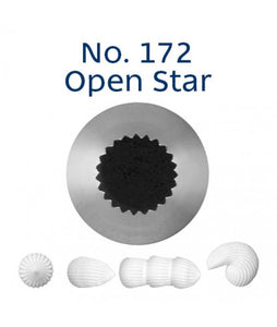 Piping Tip Stainless Steel Open Star Medium No. 172