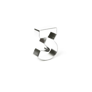 "Cookie Cutter - Number ""3"" 7cm"