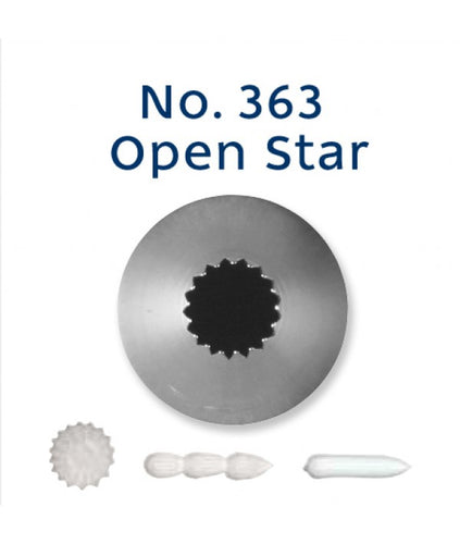 Piping Tip Stainless Steel Open Star Standard No. 363