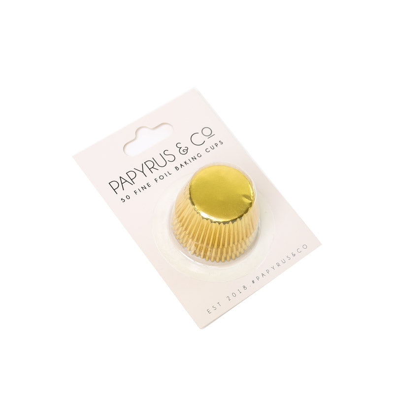 Baking Cups Mini 50pk Gold