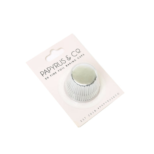 Baking Cups Mini 50pk Silver