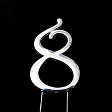 Load image into Gallery viewer, Cake Topper - Number 8 Silver 7cm