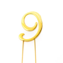 Load image into Gallery viewer, Cake Topper - Number 9 Gold 7cm