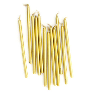 Candles Gold 12cm Tall 12pk