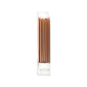 Candles Rose Gold 12cm Tall 12pk
