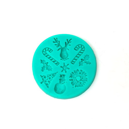 Silicone Mould - Christmas Icons