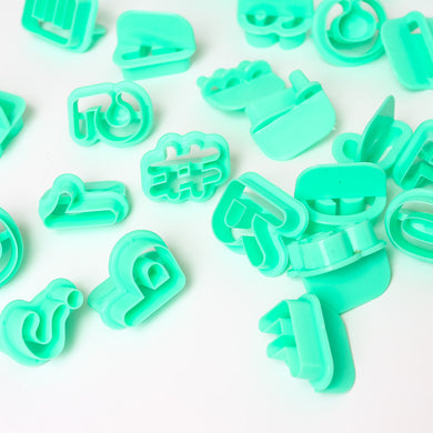Cutter Set Alphabet & Number 40pk