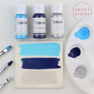 Edible Art Paint Pastel Blue