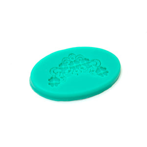 Silicone Mould - Floral Embroidery