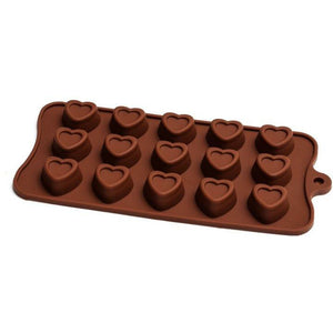 Chocolate Mould (Silicone) - Embossed Heart