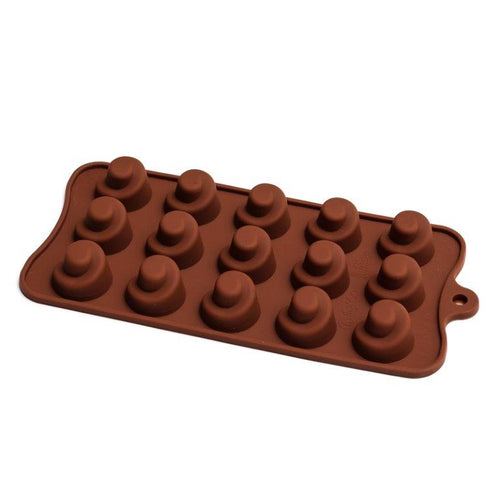 Chocolate Mould (Silicone) - Chocolate Swirl