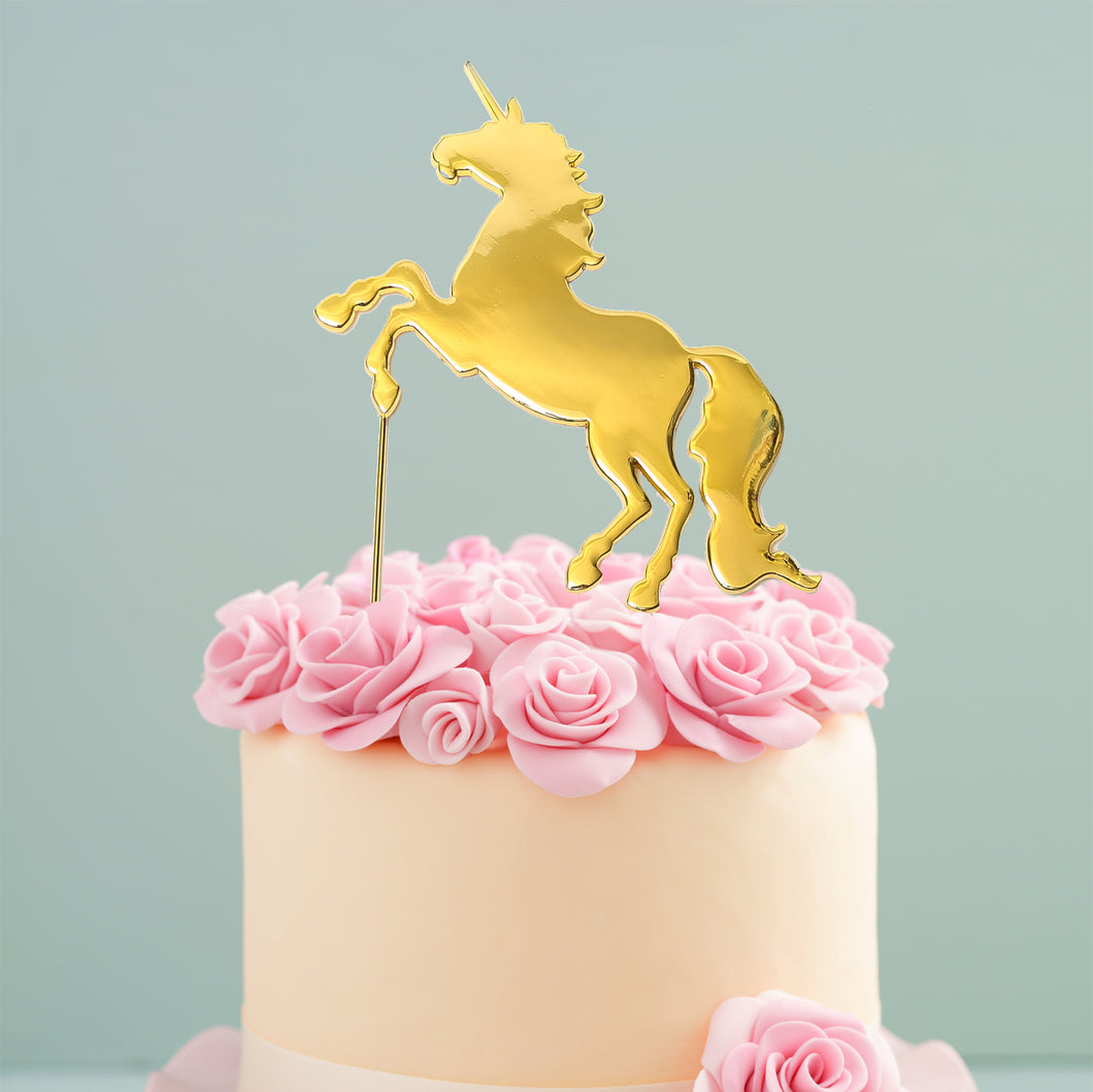 Cake Topper - Unicorn Gold Plated