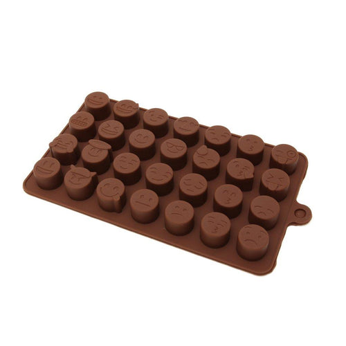 Chocolate Mould (Silicone) - Emoji Faces