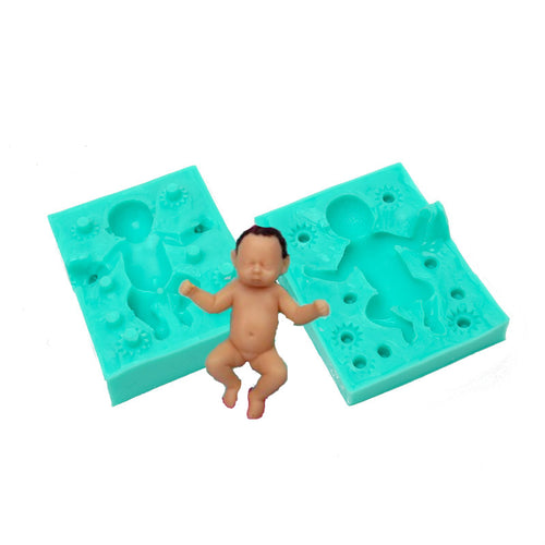 Silicone Mould - Baby Sleeping Large