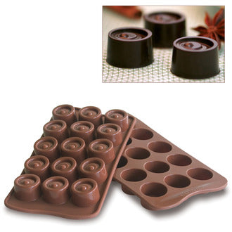 Chocolate Mould (Silicone) - Vertigo