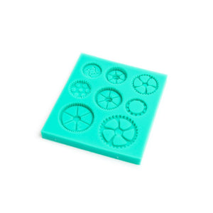 Silicone Mould - Cogs & Gears