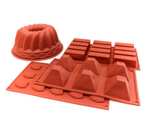 Load image into Gallery viewer, Silicone Baking Mould - Bundt Cake Minis