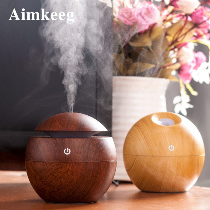 Sleek Wooden Aromatherapy Essential Oil Diffuser