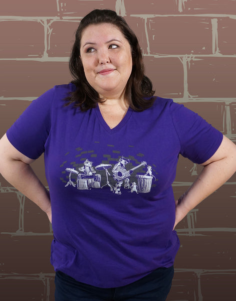 Alley Cats Plus Size Women's V-Neck