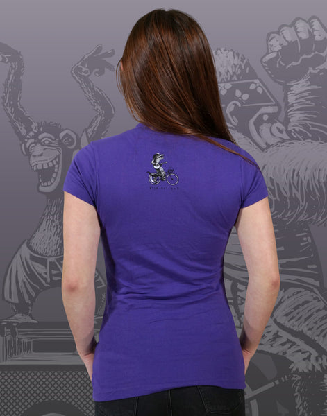 Bike Party Junior Women's Fitted V-Neck