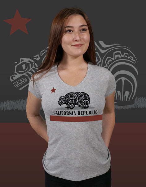 California Native Junior Women's Fitted V-Neck