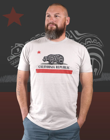 California Native Men's Fitted Crew Neck