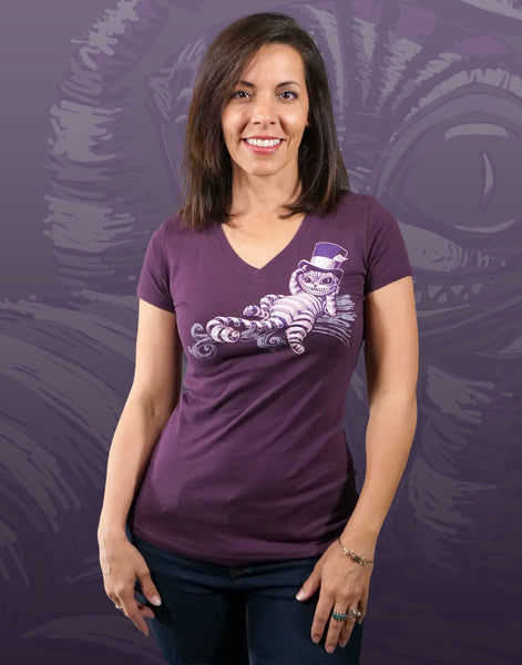 Cheshire Cat Junior Women's Fitted V-Neck