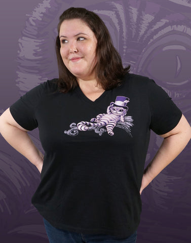 Cheshire Cat Plus Size Women's V-Neck