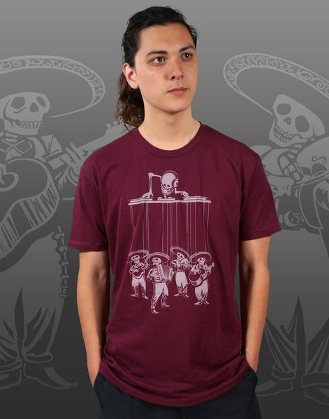 Dia De Los Muertos Men's Fitted Crew Neck
