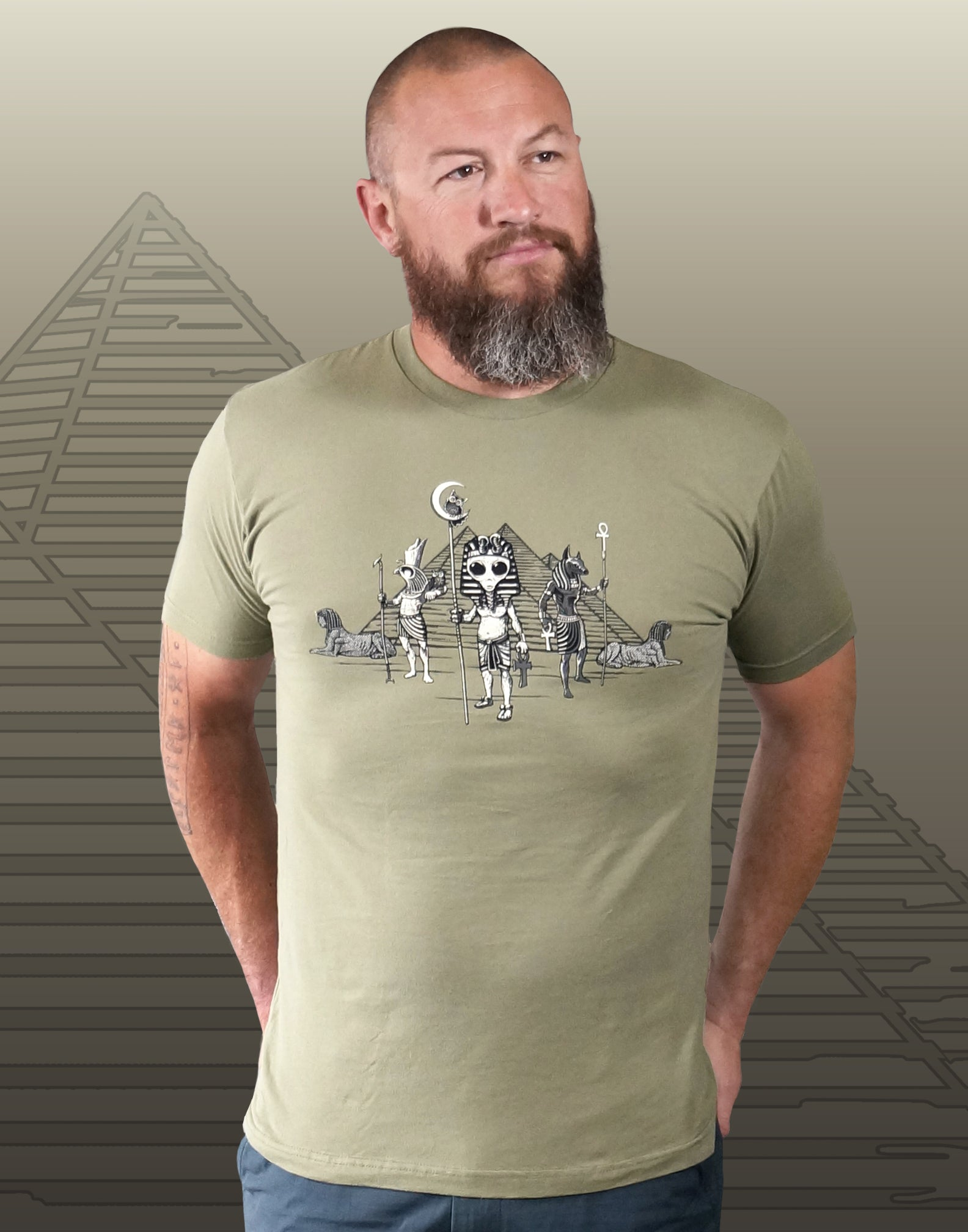 Egyptian Alien Men's Fitted Crew Neck