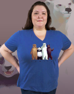 Family Plus Size Women's V-Neck