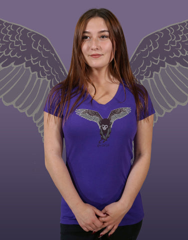 Flying Monkey Junior Women's Fitted V-Neck