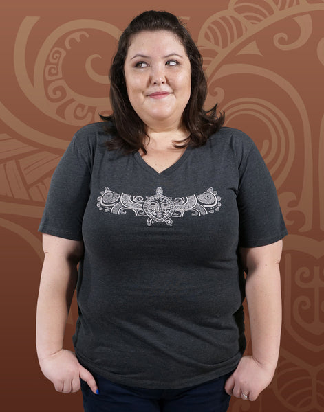 Flying Turtle Plus Size Women's V-Neck