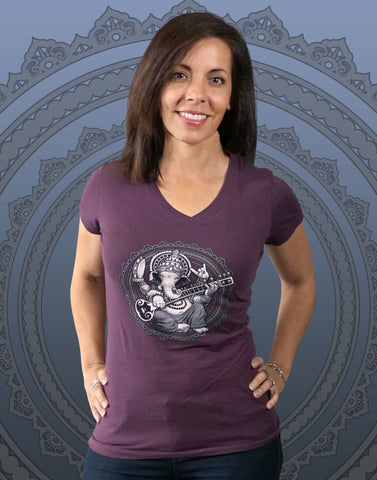 Ganesha Junior Women's Fitted V-Neck