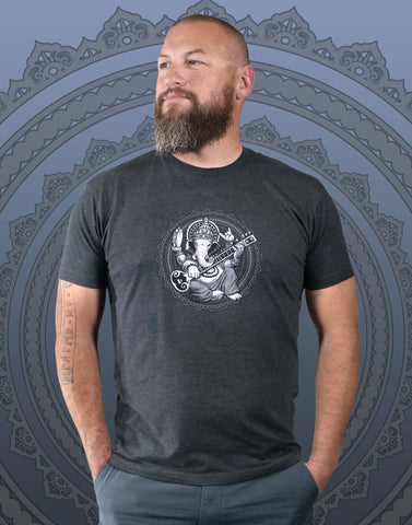 Ganesha Men's Fitted Crew Neck