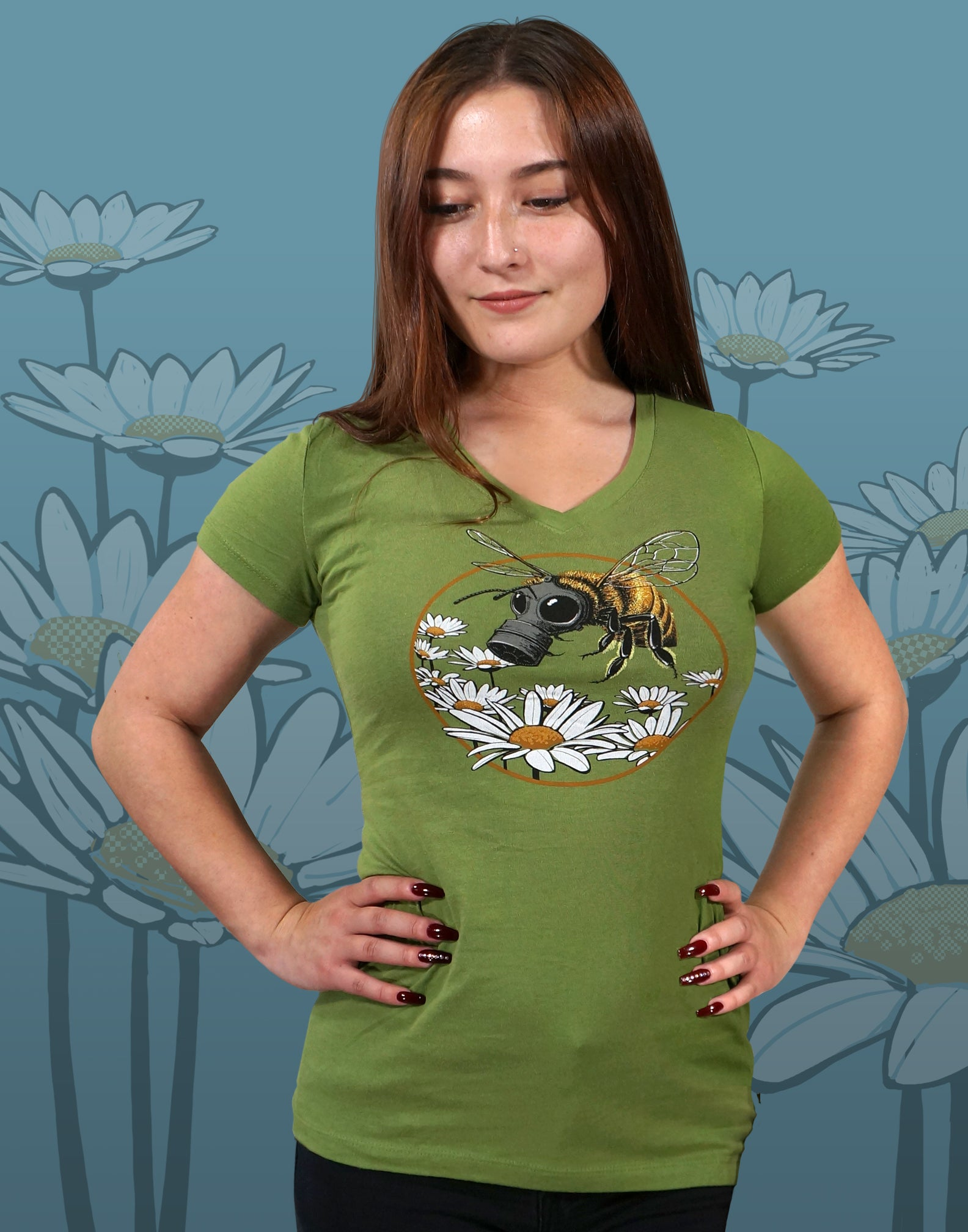 Honey Bee Junior Women's Fitted V-Neck