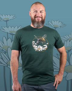 Honey Bee Men's Fitted Crew Neck