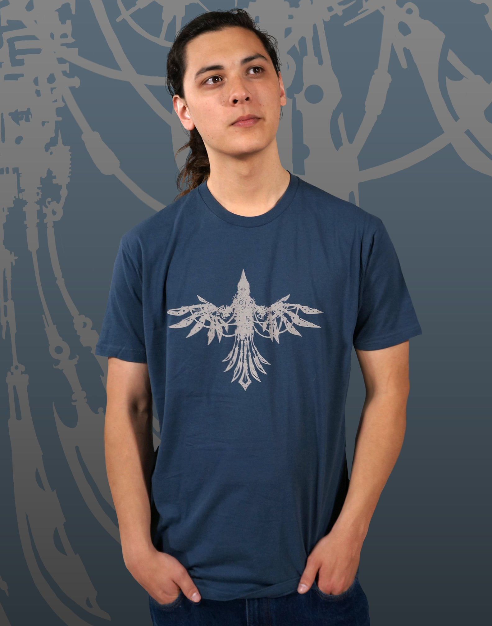 Mechanical Bird Men's Fitted Crew Neck