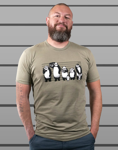 Panda Lineup Men's Fitted Crew Neck