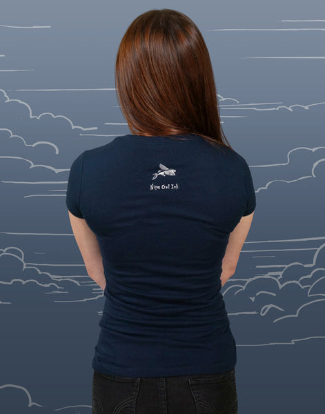 Sky Diver Junior Women's Fitted V-Neck
