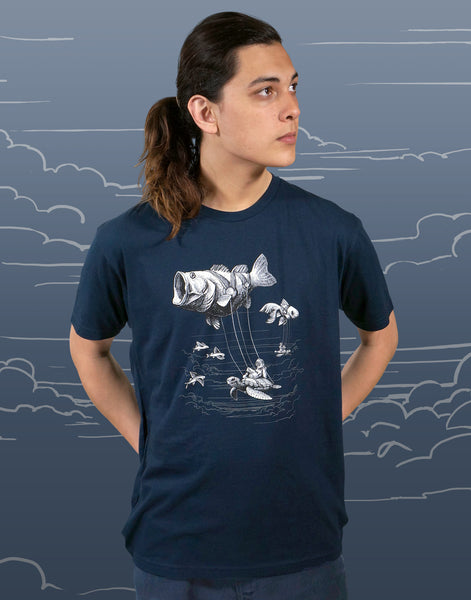 Sky Diver Men's Fitted Crew Neck